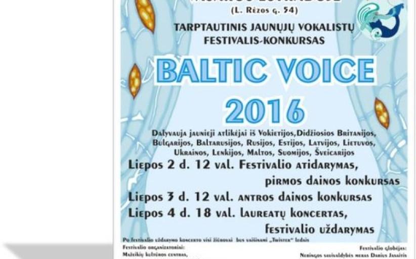"""Kviečiame į Tarptautinį vaikų ir jaunimo festivalį-konkursą """"Baltic Voice 2016"""""""