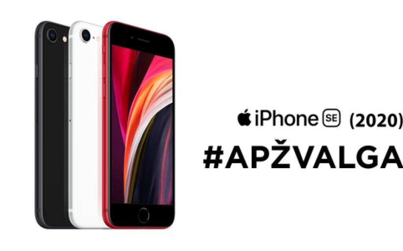 """Antros kartos """"iPhone SE"""" (2020): ką siūlo biudžetinis """"Apple"""" išmanusis? APŽVALGA"""
