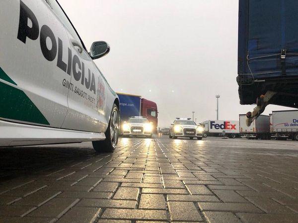 Lietuvos kelių policijos reidas Klaipėdos keltų terminale