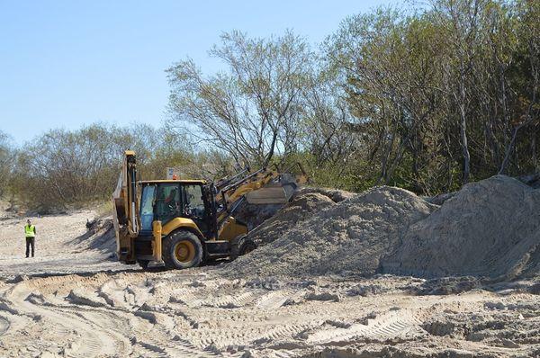 Palangos paplūdimyje prasidėjo ekstremalios situacijos likvidavimo darbai