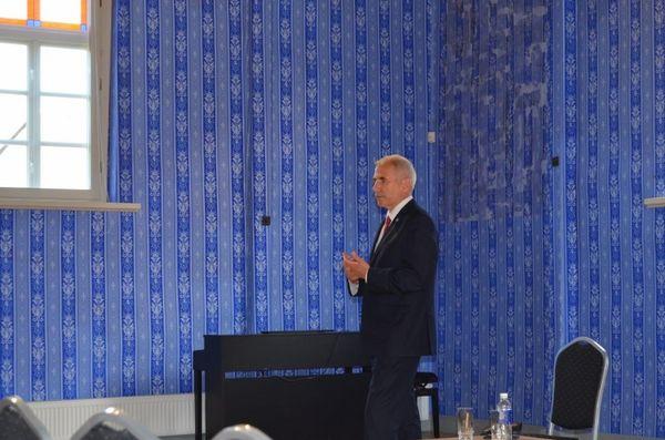 Pakruojyje viešėjo KTU Europos instituto direktorius Vygaudas Ušackas