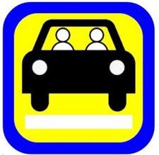 1. Keleivių vežimo už atlygį lengvaisiais automobiliais pagal užsakymą ženklo pavyzdys.