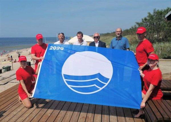 Klaipėdos paplūdimių vasarą skelbia mėlynoji vėliava