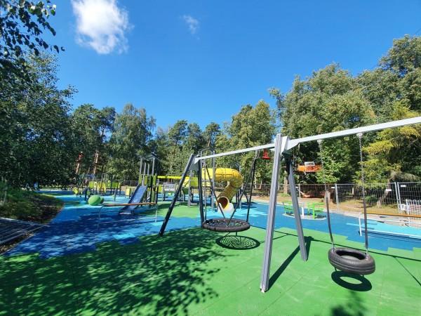 Atnaujinta vaikų žaidimų aikštelė Klaipėdos Poilsio parke
