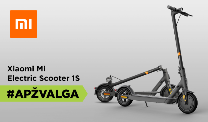 """Xiaomi Mi Electric Scooter 1S"" apžvalga [VIDEO]"