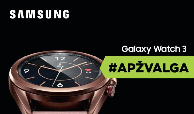 """Pirmas žvilgsnis į """"Samsung Galaxy Watch 3"""" [VIDEO apžvalga]"""