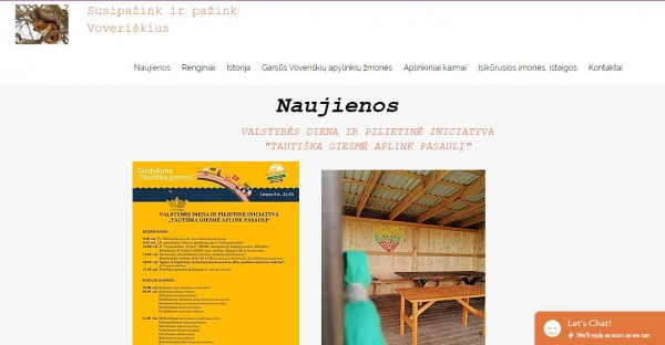 Voveriškių bendruomenė sumanė kaip gyventojus informuoti apie naujus darbo pasiūlymus