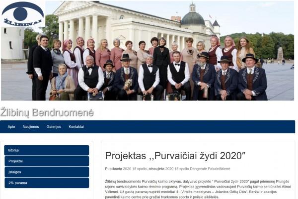 Žlibinų bendruomenė pristato atsinaujinusią interneto svetainę
