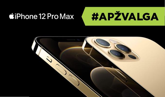 """Pirmas žvilgnis į didžiausią ir brangiausią 2020 metų """"iPhone"""": """"iPhone 12 Pro Max"""" apžvalga"""