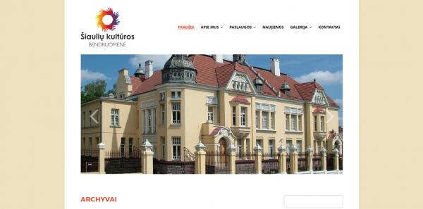 Naujoji Šiaulių kultūros bendruomenės skaitmeninė erdvė – istoriniams ir kultūriniams atradimams